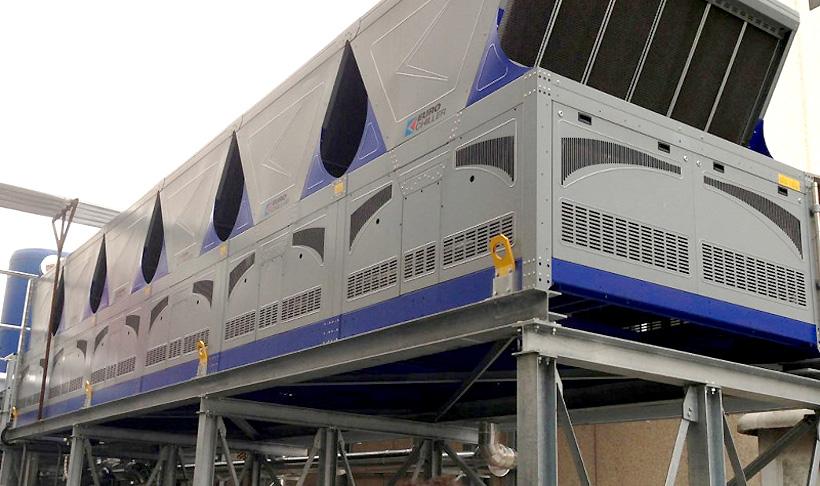 Охладители промышленного воздуха Eurochiller для экструзионных линий производства рукавной пленки