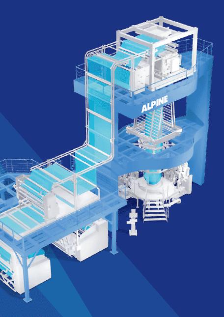 Экструзия выдувной пленки с помощью нового экструдера ALPINE HX Select (Фото: HOSOKAWA ALPINE)