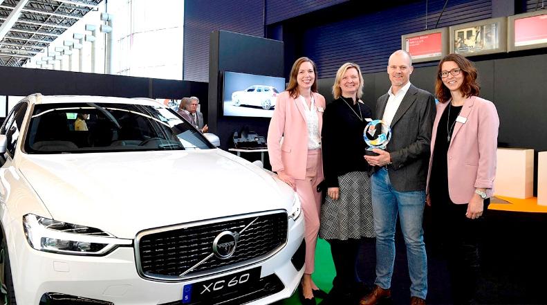 Volvo Cars получила награду за специальную версию подключаемого гибридного кроссовера XC60 T8 Twin Engine. Фото: Volvo Cars