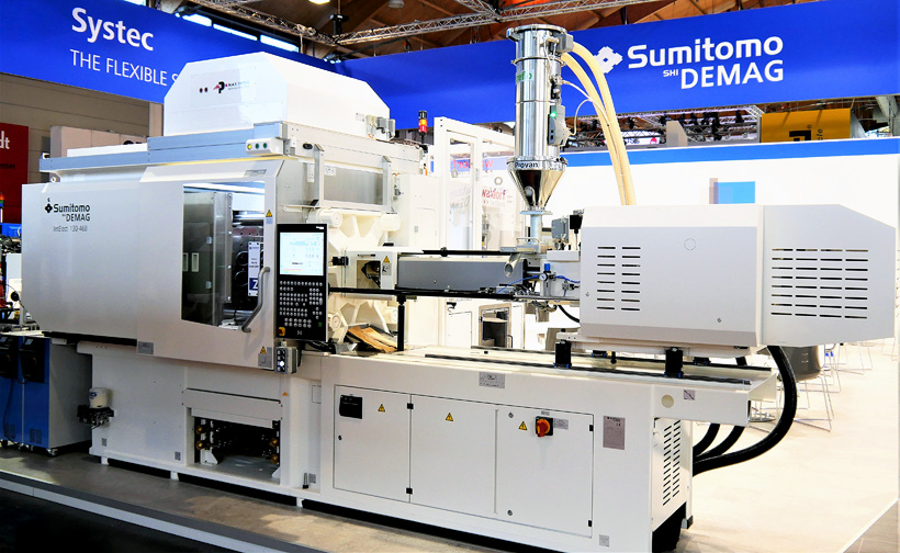 Sumitomo (SHI) Demag представила полностью электричесий ТПА нового поколения IntElect 2 был выбран высокоскоростной ТПА IntElect S — 130 тонн в медицинском исполнении