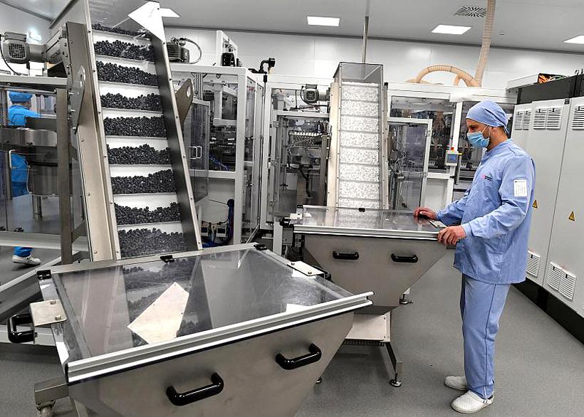 Линия по производству пластиковых вакуумных пробирок на заводе «Гранат Био Тех»
