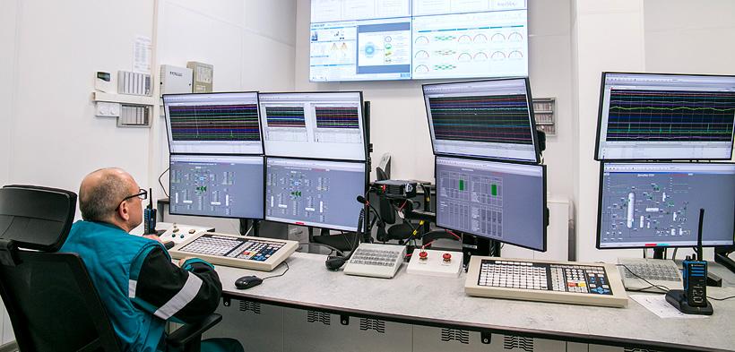 СИБУР-Нефтехим. Центральный пульт управления производства окиси этилена и гликолей