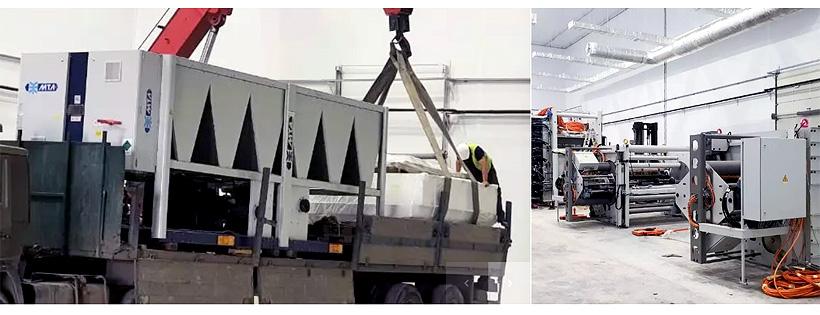 Монтаж первой линии нового завода «Атлантис-Пак» по производству высокобарьерной плёнки на площадях Ростовского завода гражданской авиации №412 (РЗГА)