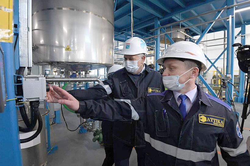 Запуск завода по производству акриловых смол 28 октября в деревне Аннолово Тосненского района Ленинградской области