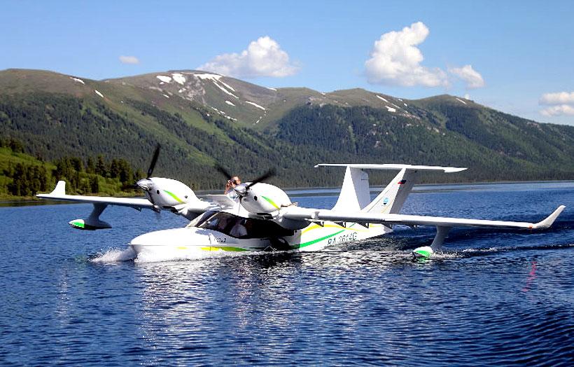 Многоцелевой самолет-амфибия Л-42М-2 изготовлен с использованием композитных материалов UMATEX