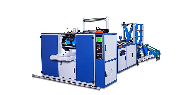 Автоматическая линия Gur-is Makin модели DRM-Roll 900 для выпуска полиэтиленовых пакетов в рулоне в 2 ручья. Фото: «Европолимер-Трейдинг»