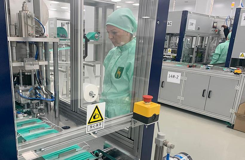 Линия по производству медицинских масок полного цикла на брянском филиале «Московского эндокринного завода» ЭНДОФАРМ