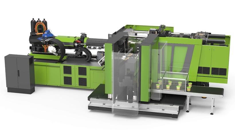Во время выставки ENGEL live e-xperience новая серия ТПА e-speed 280 будет производить однолитровые тонкостенные этикетированные контейнеры
