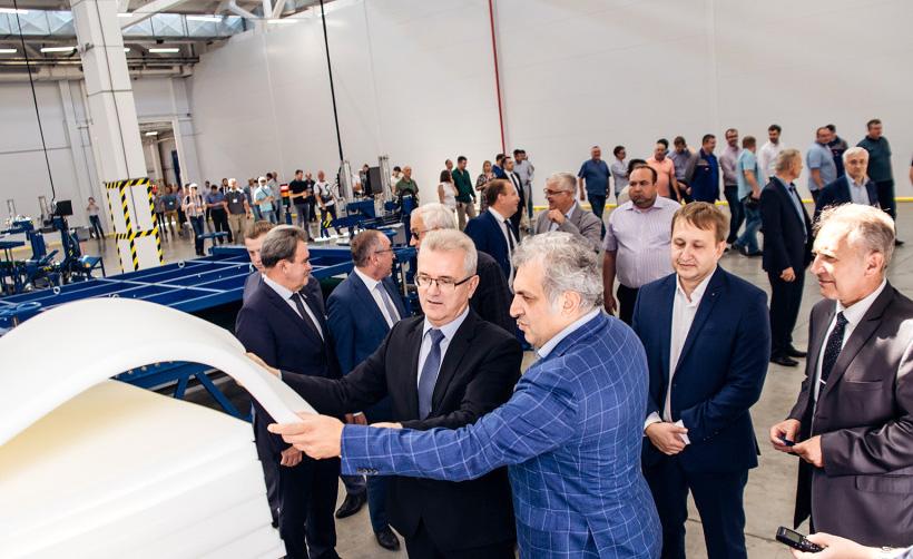 Совладелец компании Артур Согомонян на открытии первой очереди завода «Кузнецкий технопарк»