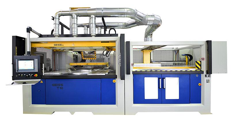 Машина для вакуумного термоформования средне- и  крупногабаритных деталей из листа и пленки GEISS AG