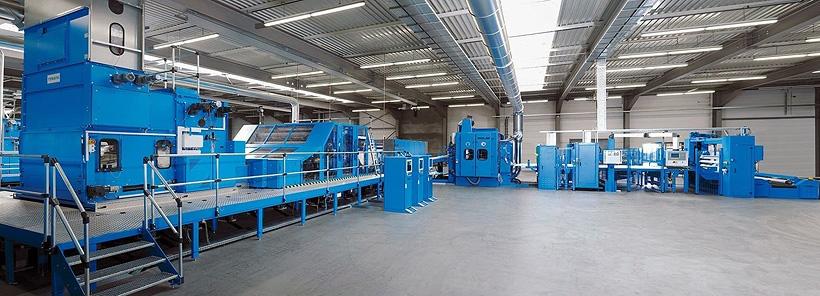 Экструзионная линия по выпуску геомембраны на заводе ПСК «Геодор» в Энгельсе