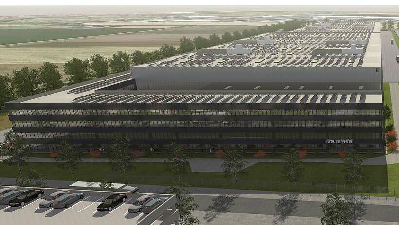 Проект нового завода KraussMaffei площадью 66 500 м2 и с численностью персонала 750 сотрудников