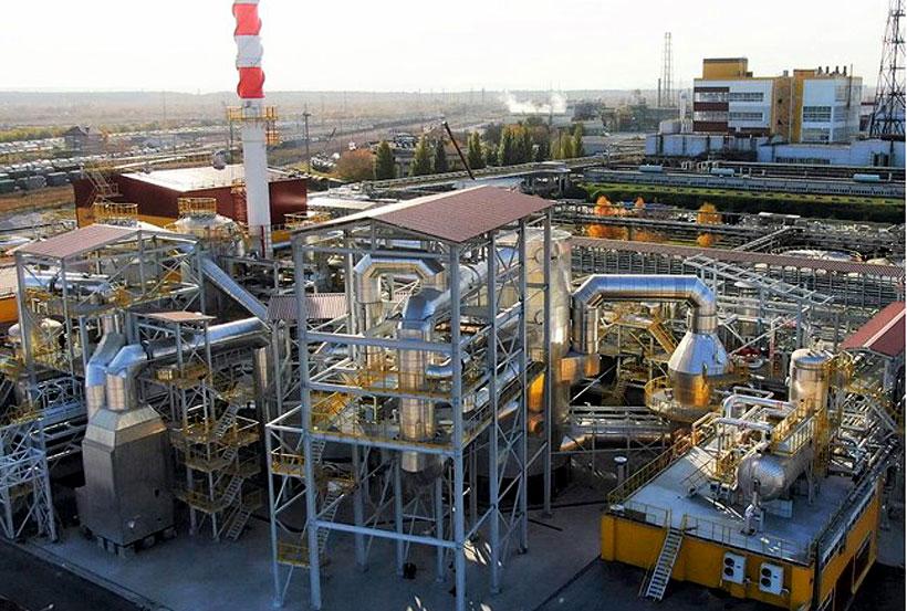 Новый завод «КуйбышевАзот» по производству серной кислоты мощностью 140 тыс. т и улучшенного олеума мощностью 360 тыс. т в год