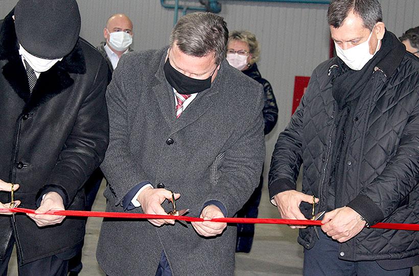 Открытие производственной линии для серийного производства стеклопластиковой ленты для изоляции труб