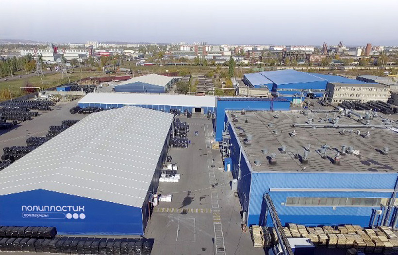 Территория Саратовского завода полимерных материалов (СЗМП) где Высокотехнологичные линии будут смонтированы в рамках инвестиционного проекта НПП «ПОЛИПЛАСТИК» по созданию