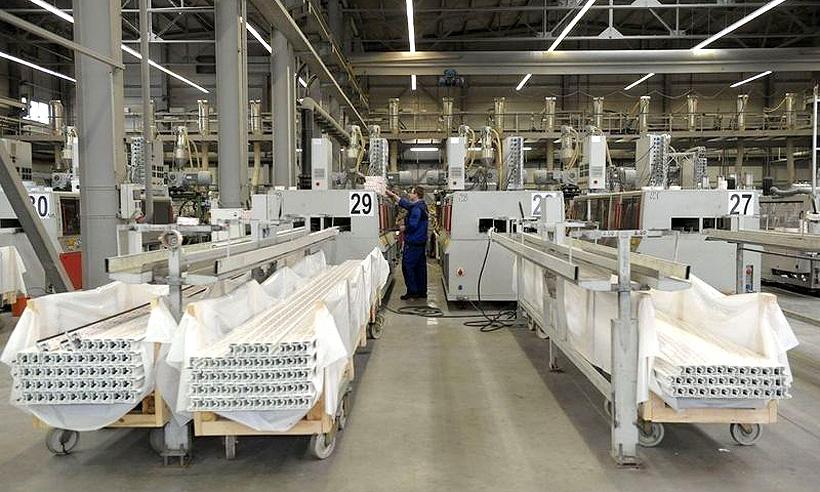 Производство ПВХ-профиля на заводе profine RUS