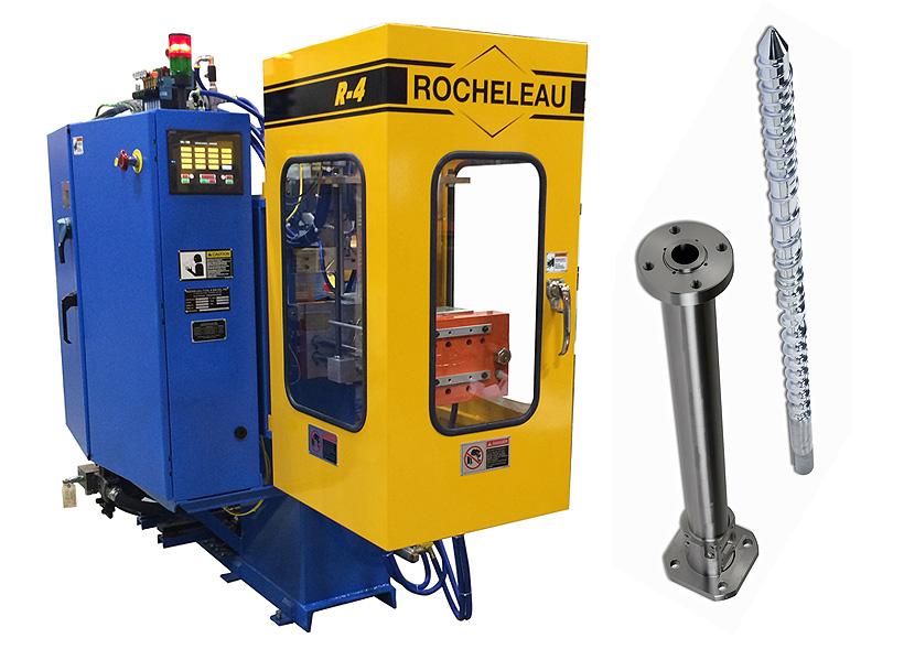Выдувная формовочная машина Rocheleau Tool & Die для изготовителей пипеток со шнеками Nordson