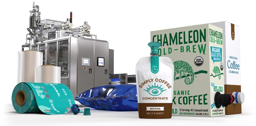 Гибкая упаковка для жидкого концентрата кофе Scholle IPN