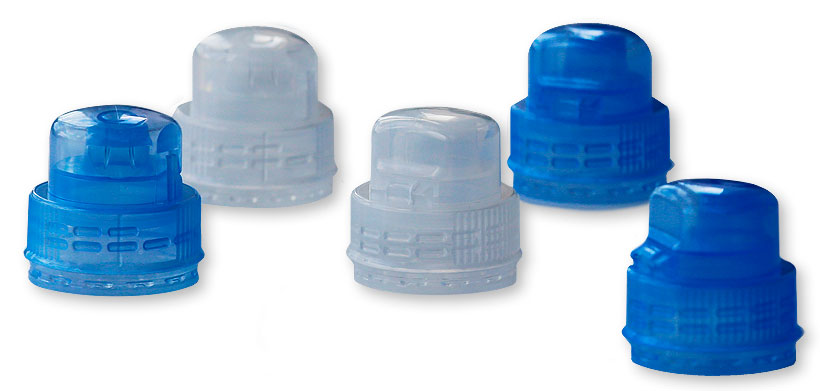 Однокомпонентные полимерные колпачки типа SportCap весом менее 3 гр. для детского питания, спортивных напитков