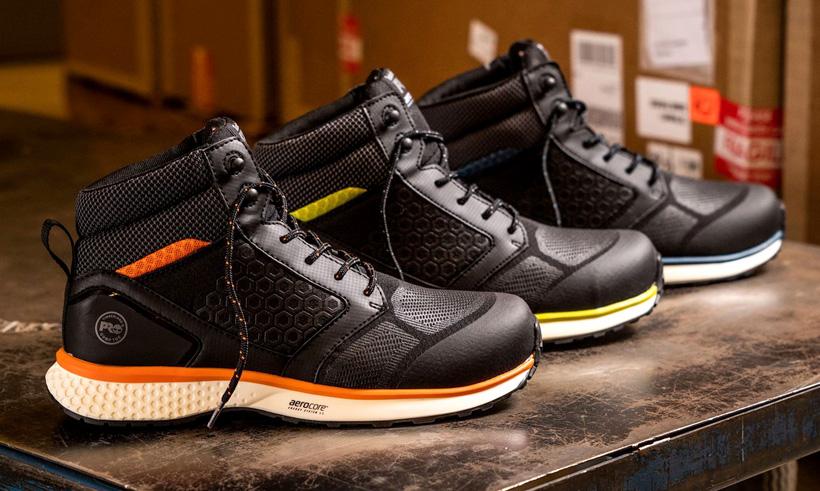 Защитная обувь TimberlandPRO®Reaxion для промышленных рабочих с технологией Timberland Aerocore™EnergySystem