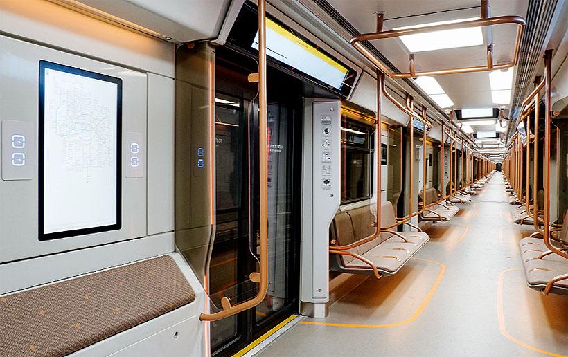 Салон новых вагонов метро серии 81-775/776/777 «Москва-2020»