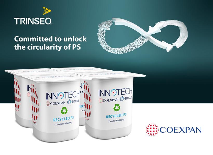 Coexpan и Trinseo продвигают технологию переработки вторичного полистирола для молочной промышленности