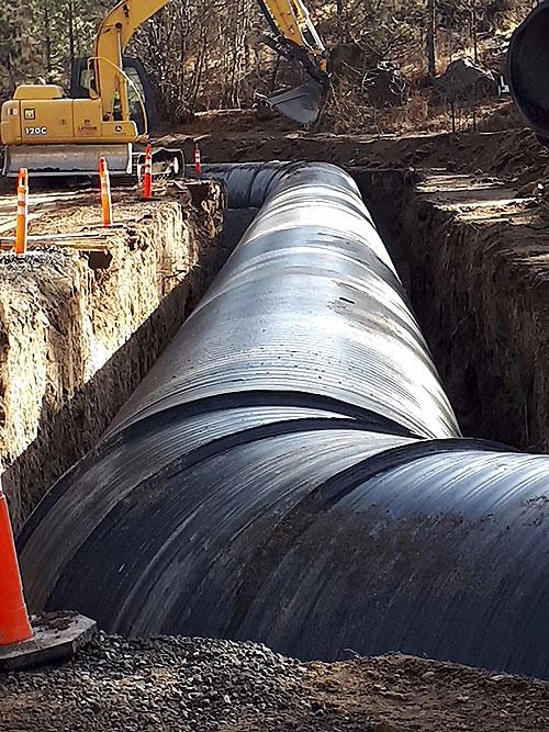 Монтаж ПЭВП-труб Вехолайт в ирригационнрм районе Тумало в Орегоне (США)