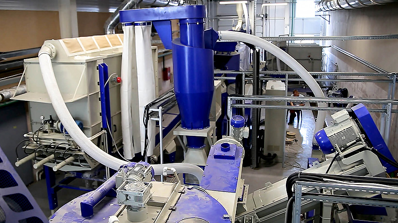 Линия Polimech для переработки использованных ПЭТ-бутылок из полиэтилентерефталата на заводе в Витебске