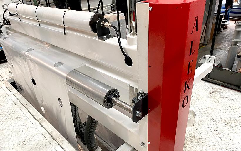Новый модуль для перфорации ПЭ-пленки производства «Алеко Машинери» способен изменять диаметры получаемых отверстий
