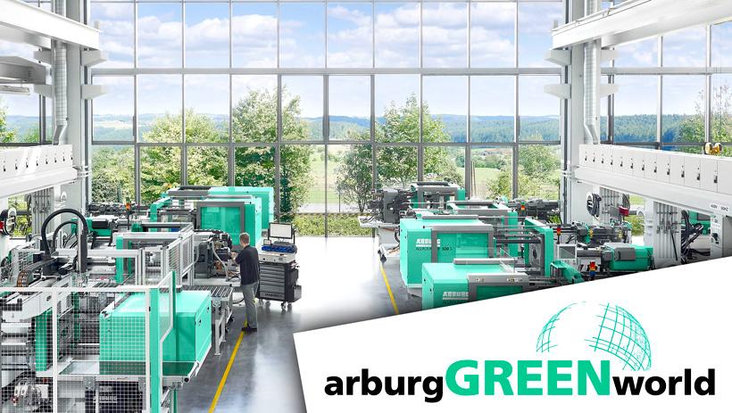 В программе arburgGREENworld ARBURG объединил свои действия в области сохранения ресурсов и экономики замкнутого цикла