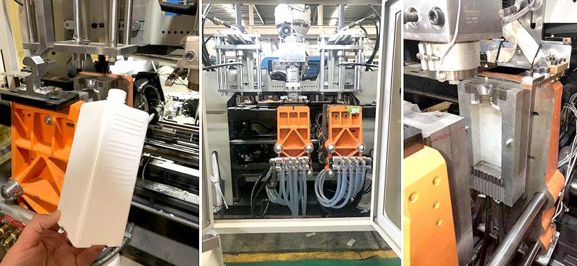 Экструзионно-выдувная машина для производства бутылки для санитайзера BL-45K, «Балитех»
