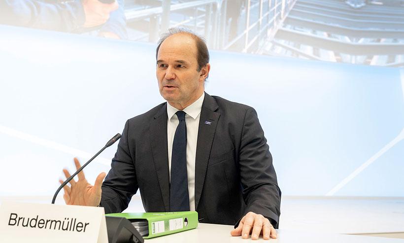 Д-р Мартин Брудермюллер, председатель Совета исполнительных директоров BASF на ежегодной пресс-конференции компании по итогам работы за 2020 год