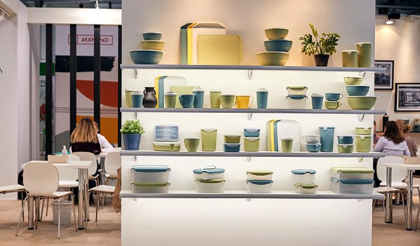 Изделия компании «Бытпласт» новой цветовой гамме на выставке HouseHold Expo 2021