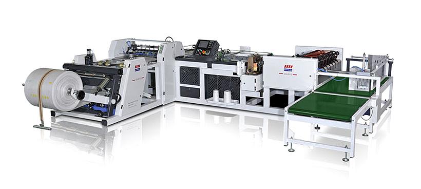 Новая автоматическая раскройно-сшивная машина модели CS-2012 производства Botheven Machinery для выпуска полипропиленовых пакетов