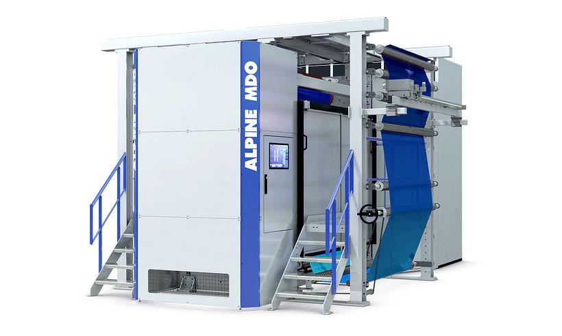 Экструзионная установка HOSOKAWA ALPINE для выпуска пленок по технологии моноаксиальной ориентации (MDO (Machine Direction Orientation)