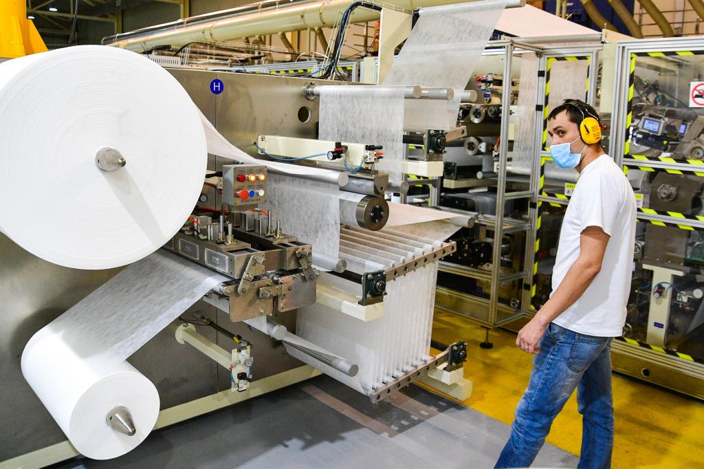 Линия по производство детских одноразовых подгузников на заводе «Диона»