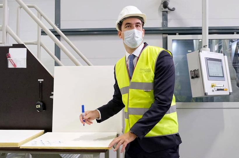 Открытие завода Saint-Gobain для выпуска стеклопластиковых панелей Ecophon в Егорьевске