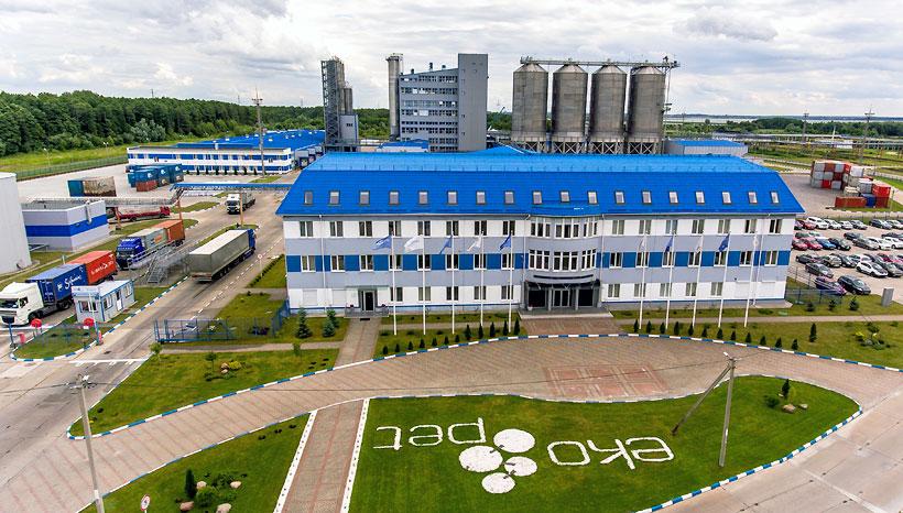 Завод «Экопэт» в Калининграде по выпуску полиэтилентерефталата мощностью 240 тыс. т в год
