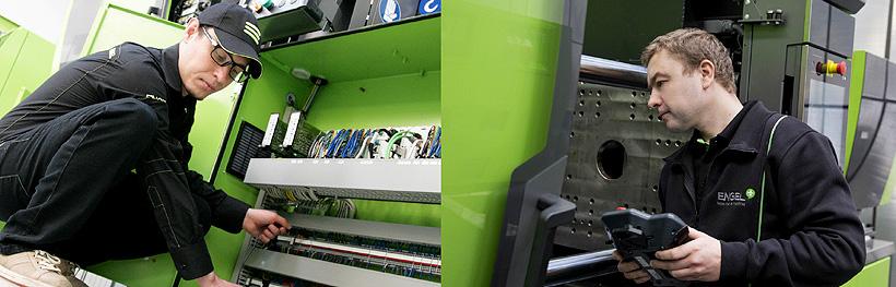 Регулярное техобслуживание ТПА и роботов с пакетами ENGEL care защищает от неприятных сюрпризов на производстве