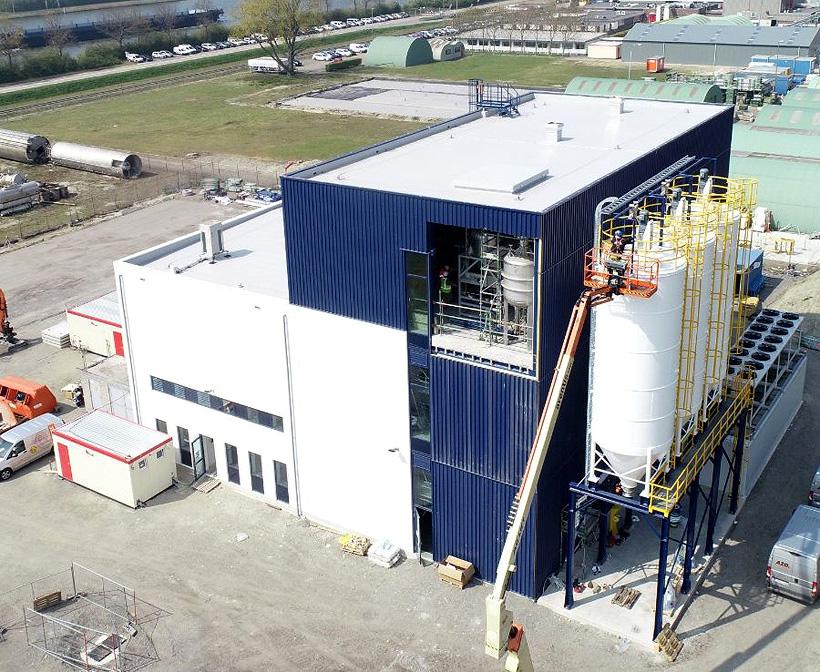Строительство пилотной установки по вторичной переработке вспенивающегося полистирола по технологии Creasolv