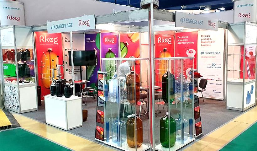 Стенд казанского и солнечногорского заводов «Европласт» на международной специализированной выставке продуктов питания, напитков и сырья для их производства «ПродЭкспо-2021»
