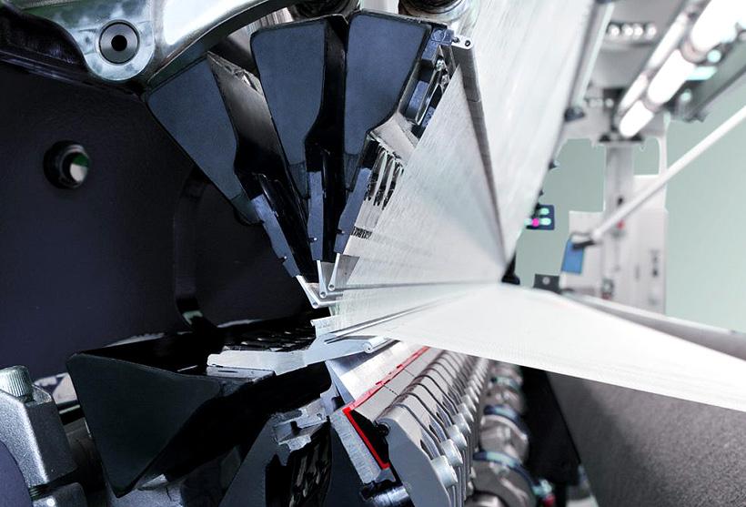 Производство полотна микрофибры с помощью оборудования BB Engineering на заводе «Микрофибра» в Ниженекамске