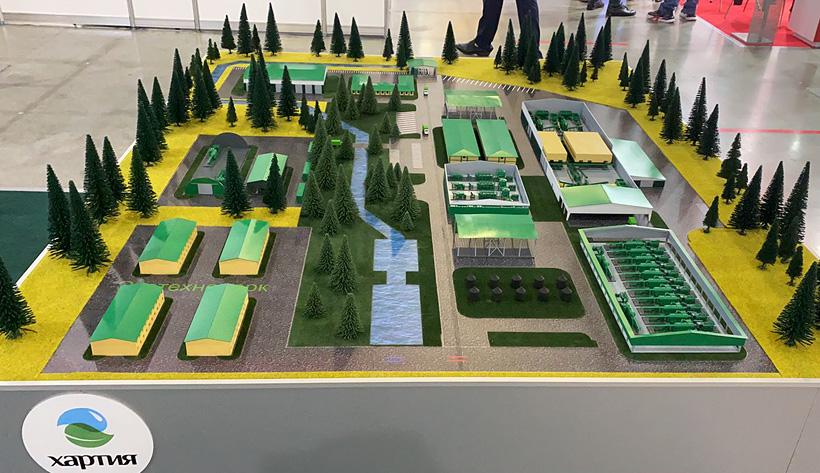 «Хартия» представила макет комплекса по переработке отходов «Тула» на выставке «ВэйстТэк-2021»