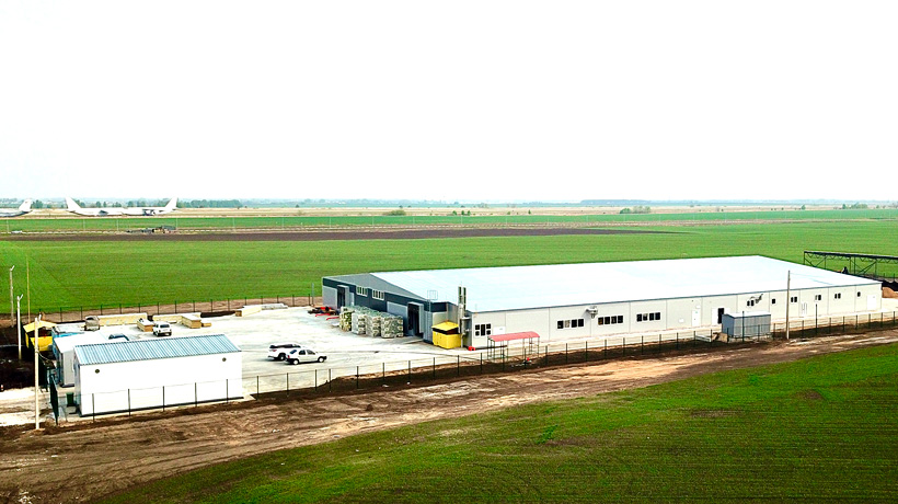 Площадка завод «Хольцхоф Рус» по производству изделий из древесно-полимерного композита в Ульяновской области