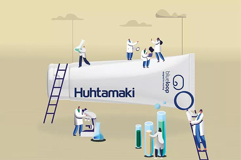 Производство ламинированной тубы Huhtamaki с колпачком из ПЭВП и прямой печатью одобрено RecyClass