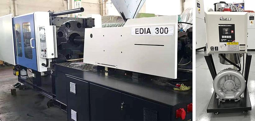 Термопластавтомат Hyundai серии EDIA 300 и вакуумный загрузчик полимерных композиций, поставленные производителю автомобильных зеркал