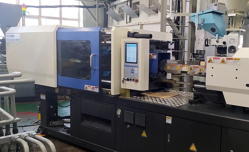 Термопластавтомат Hyundai EDIA c усилием смыкания 150 тонн, установленный на предприятии в Ижевске
