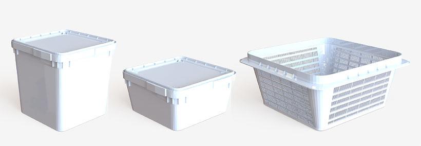 Вместе с контейнерами на 12 и 23 л «Ай-Пласт» рекомендует приобрести сетчатый контейнер, который специально произведен для установки внутрь или на куботейнер