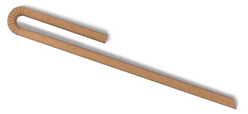Пищевая трубочка из влагостойкой бумаги производства «Летс трейд», которую компания начала выпускать вместо трубочек из полипропилена
