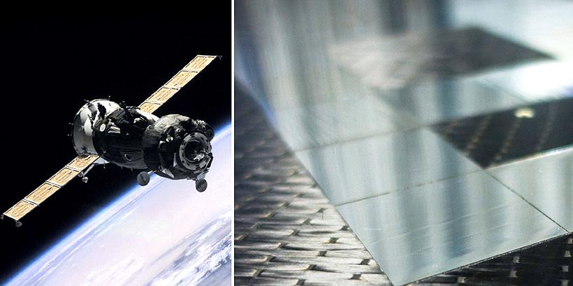 ОНПП «Технология» выпускает каркасы солнечных батарей космических аппаратов, обладающие лучшими в мире весовыми характеристиками — 400 гр/м2
